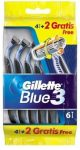Gillette Blue 3 eldobható borotva 6db-os
