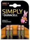 Duracell Simply LR03 AAA ceruzaelem 1.5V (4db-os)