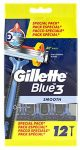 Gillette Blue3 Smooth eldobható borotva 12db-os